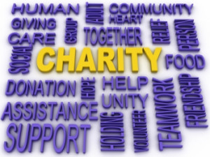 Caution when giving to Charities